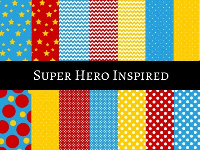 superheroes digital papers