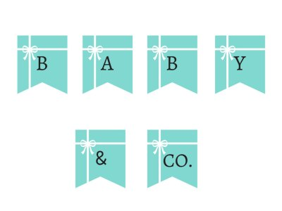 tiffany baby shower banner, tiffany bridal shower banner, tiffany party bunting, sweet 16 banner, tiffany blue
