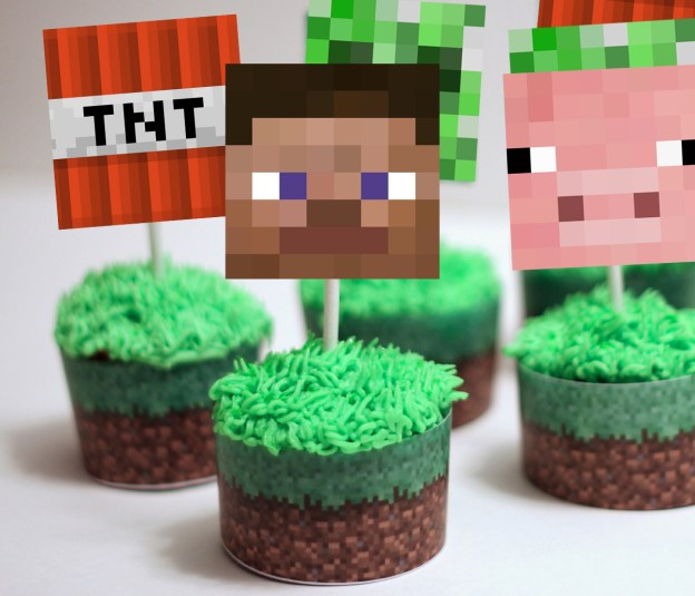 Minecraft Cupcake Wrappers, Minecraft Party, Instant Download ...