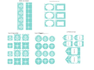 Tiffany Party Package, Tiffany Party, Tiffany Printables, Tiffany and Co, Tiffany Blue, Tiffany Digital Papers, bridal shower, baby shower invite