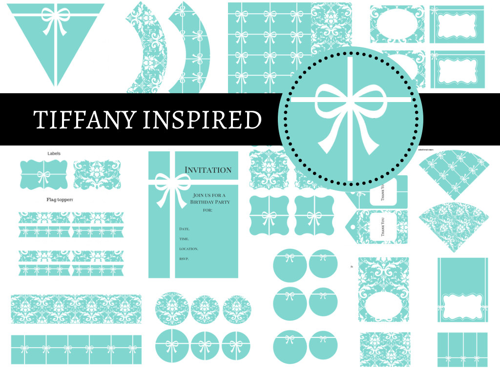 Baby And Co Tiffany Banner. Tiffany Party Package