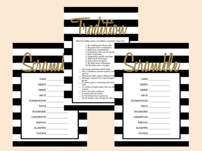 black_and_white_stripes_wedding_tradition_bridal_shower_game_printable_why_do_we_do_that set