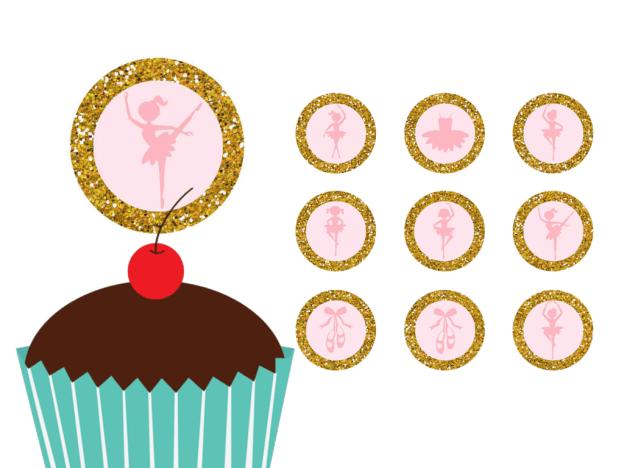 FREE Ballerina Tutu Cupcake Toppers