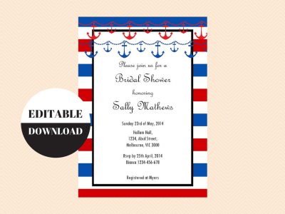 Editable Invitations Download Edit Print Magical Printable – Baby Shower Party Invitations