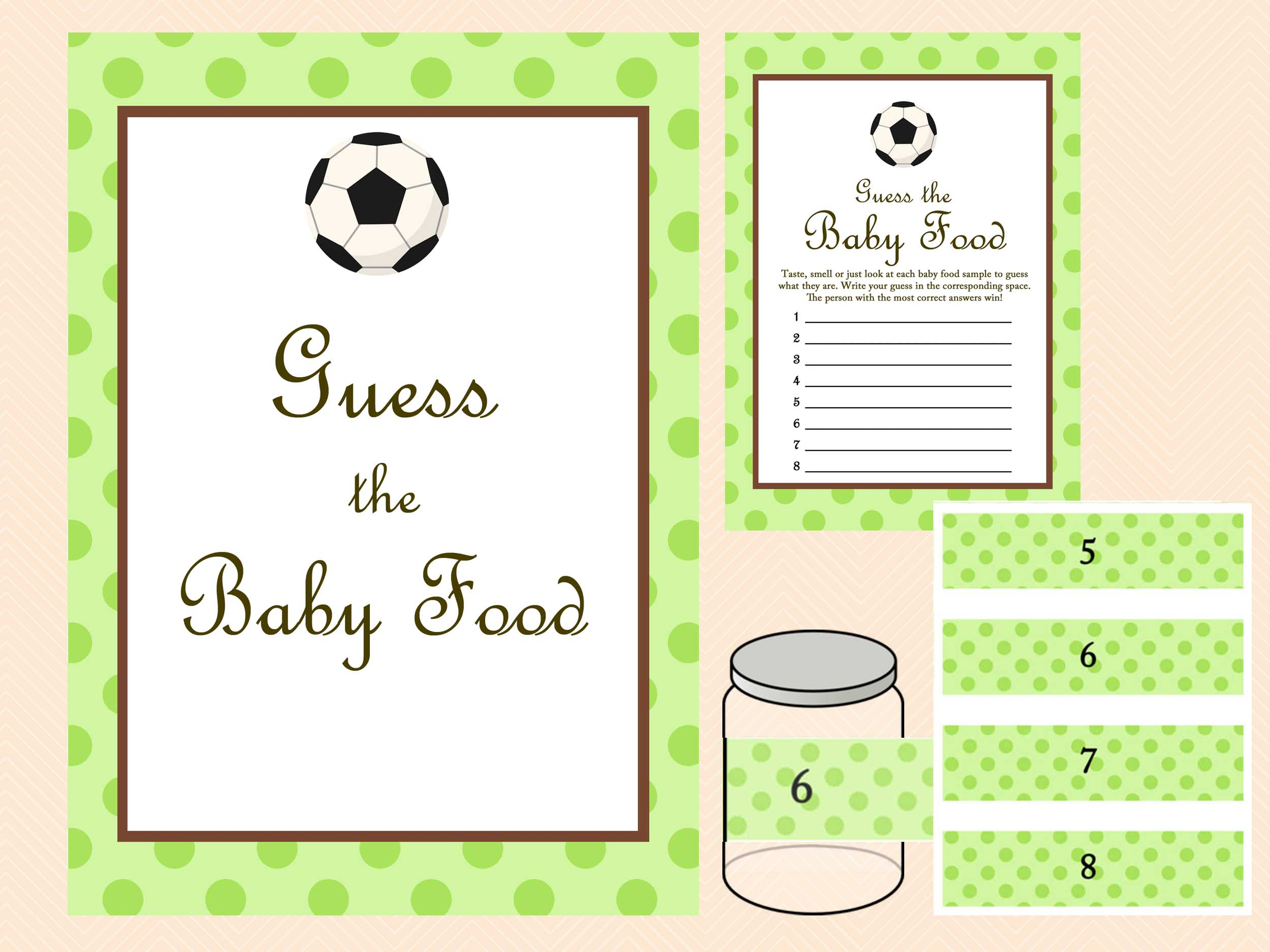soccer baby shower game magical printable