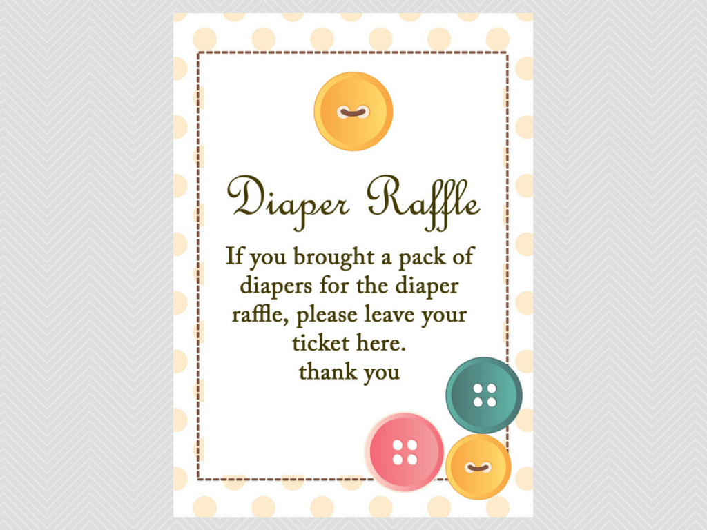 cute as a button baby shower games magical printable diaper raffle sign cute as a button baby shower them games