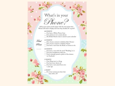 whats-in-your-phone-game-cellphone-mint-pink-shabby-chic-bridal-shower-games-pack-printables-vintage-rose-antique-rose