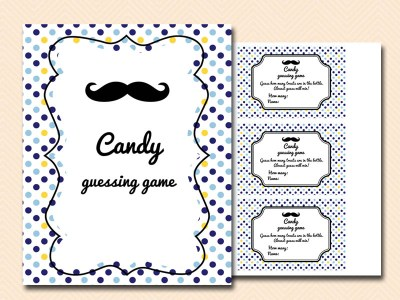 candy-guessing-game Mustache Baby Shower Games & Acitivies