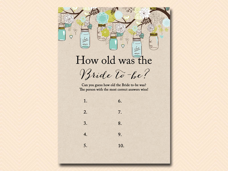 It is a photo of Fan How Old Was the Bride to Be Free Printable