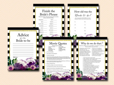 purple-watercolor-floral-black-white-stripes-bridal-shower-game-pack-bs68