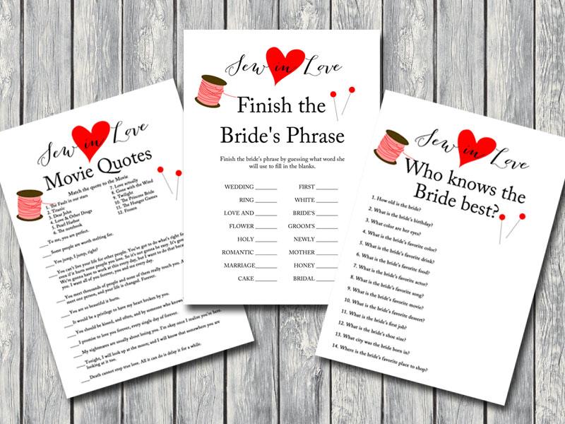Printable Bridal Shower Games Activities Magical Printable
