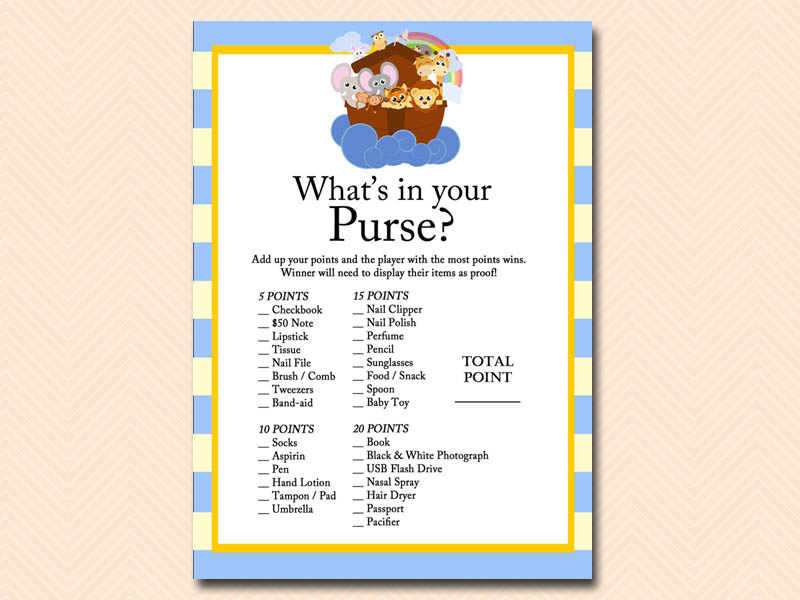 Noah's Ark Baby Shower Games - Magical Printable