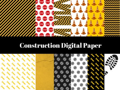 Construction Digital Paper, Construction Tape Digital Paper, download, digital paper, Construction Background, Stop Tape Background