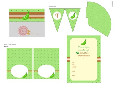Three peas in pod, Triplet Baby shower printable, triplet baby shower package, three peas in a pod baby shower, triplet babies, sweet peas