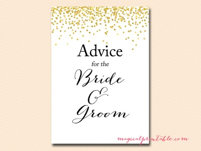 advice-for-the-bride-and-groom-sign