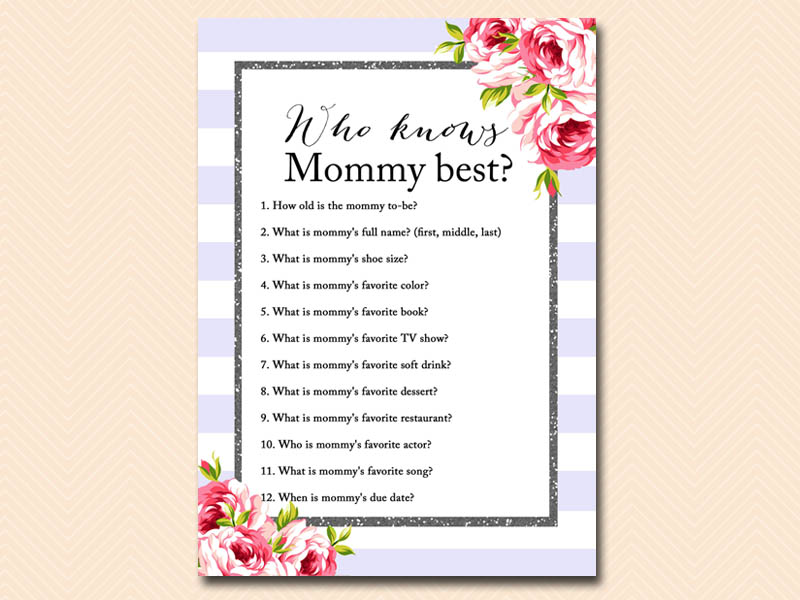 This is a graphic of Shocking Who Knows Mommy Best Free Printable