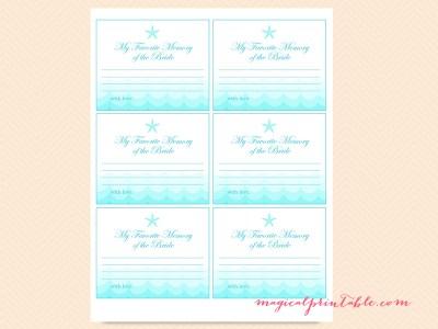 favorite-memory-of-bride-card
