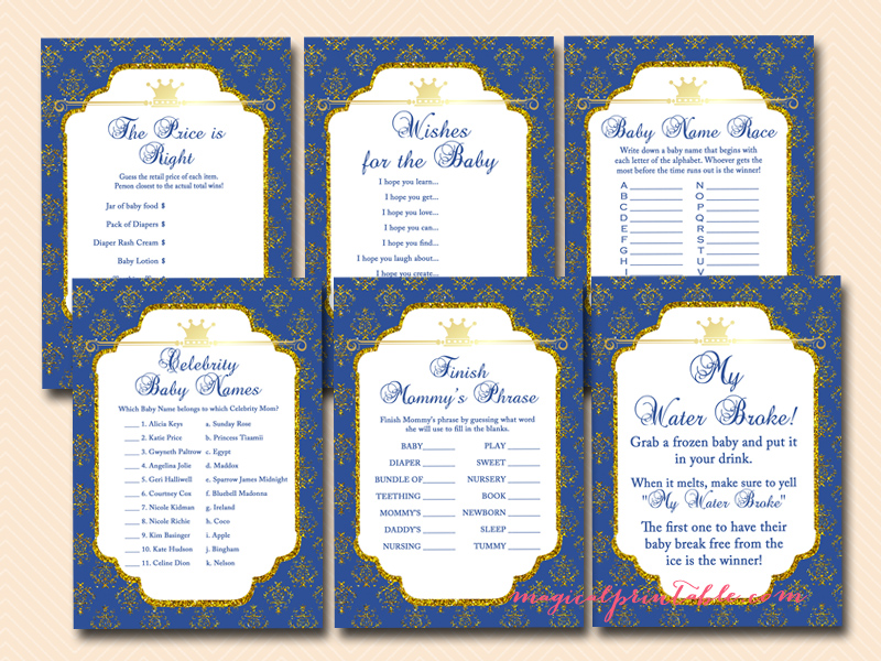 prince baby shower game printables royal prince baby shower games