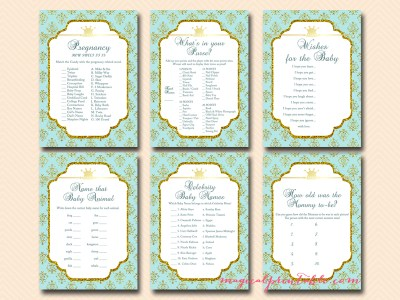 prince baby shower games, instant download, printable prince baby shower games, royal prince baby shower games