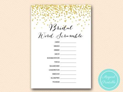 scramble bridal shower word