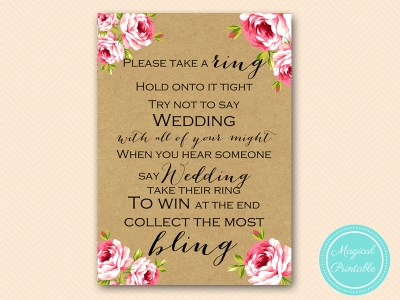 dont say wedding ring game bridal shower