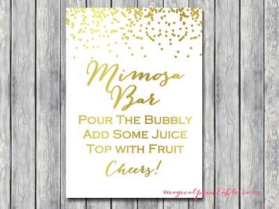 sign mimosa bar wedding sign bridal signage