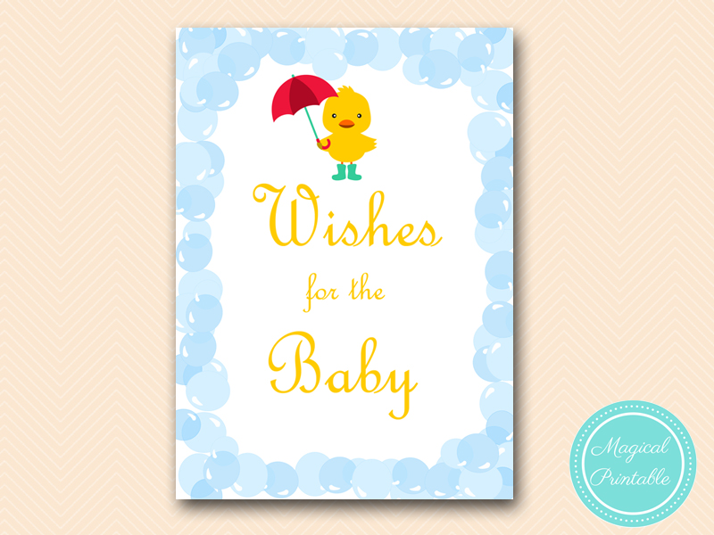 wishes for baby card and sign baby shower