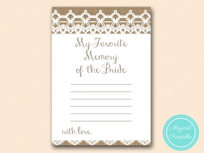 favorite-memory-of-bride-rustic-burlap-lace-bridal-shower-game-shabby-bs173