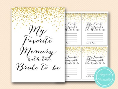 favorite-memory-with-bride-sign bridal shower bs46