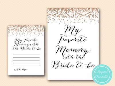 BS155-favorite-memory-with-the-bride-rose gold bridal shower theme