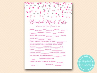 BS179-mad-libs-advice-version-Pink-silver-confetti-bridal-shower-games