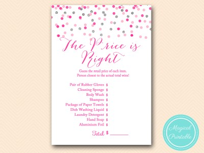 BS179-price-is-right-Pink-silver-confetti-bridal-shower-games