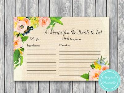 BS183-recipe-for-bride-rustic-burlap-floral-bridal-shower-games