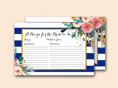 BS404-recipe-for-the-bride-navy-blue-bridal-shower