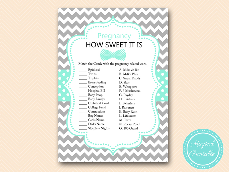 tlc405 how sweet it is little man baby shower game bows