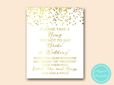 dont-say-bride-or-wedding-8x10-bs157 gold bridal shower game