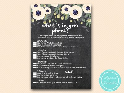BS200-whats-in-your-phone-outdoor-chalkboard-bridal-shower-games
