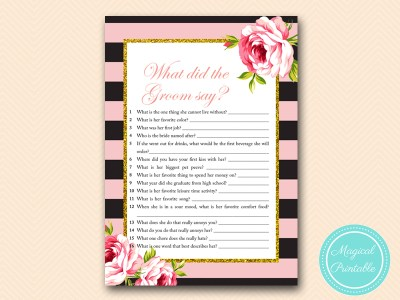 BS419-what-did-the-groom-say-pink-floral-bridal-shower-game