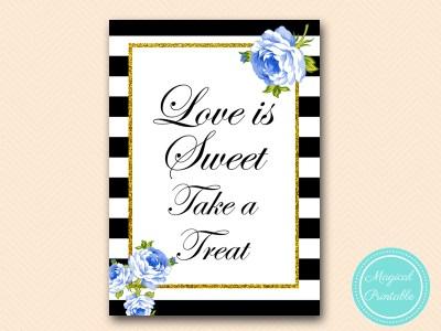 sign-love-is-sweetr-blue-floral-black-stripes-printable-sign