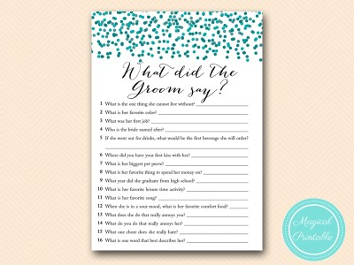 BS434-what-did-the-groom-say-USA-teal-bridal-shower-games