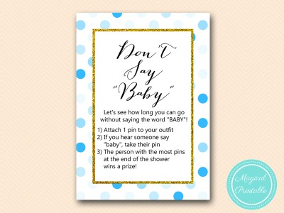 TLC430-B-dont-say-baby-boy-blue-dots-baby-shower-game-gold