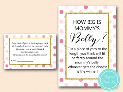 TLC430-P-how-big-is-mommys-belly-card-pink-gold-baby-shower-game-girl