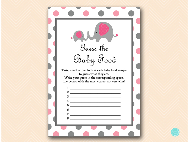 Baby Shower Games Baby Food Guess