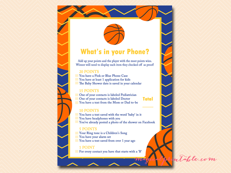 ... Whats In Your Phone Blue Yellow Basketball Baby  ...
