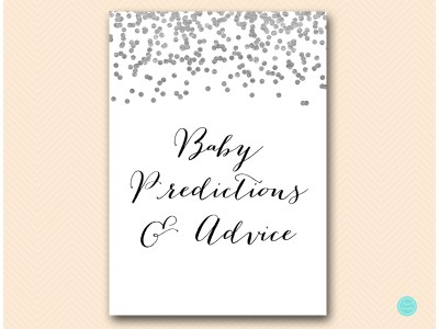 tlc149-baby-predictions-and-advice-sign-silver-baby-shower-game