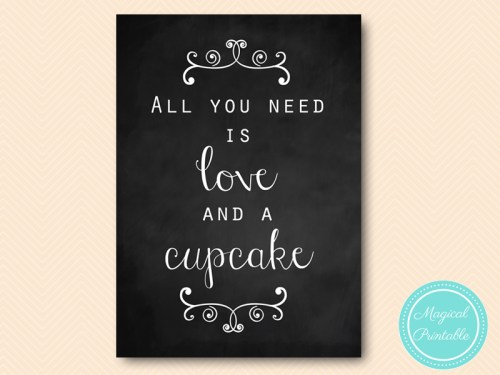 Download Chalkboard All you need is LOVE and CUPCAKE, Coffee and ...