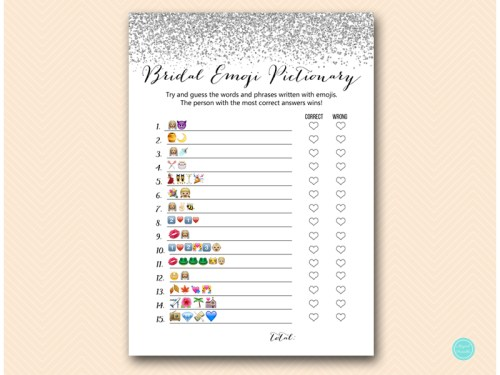 BS89-emoji-bridal-pictionary-silver-glitter-bridal-shower-bachelorette-game