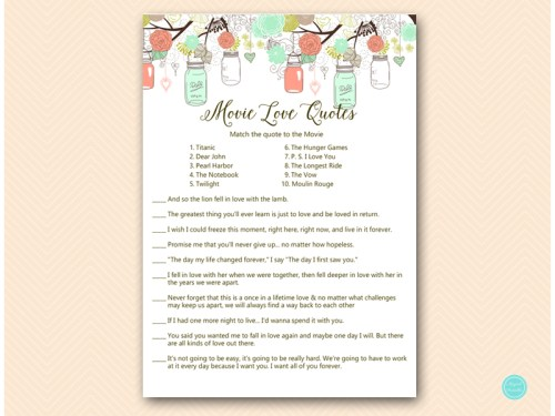 BS64-movie-love-quote-match-A-mint-peach-bridal-shower-game