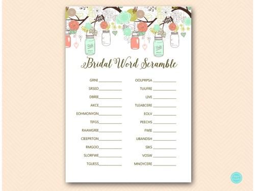 BS64-scramble-bridal-words-mint-peach-bridal-shower-game