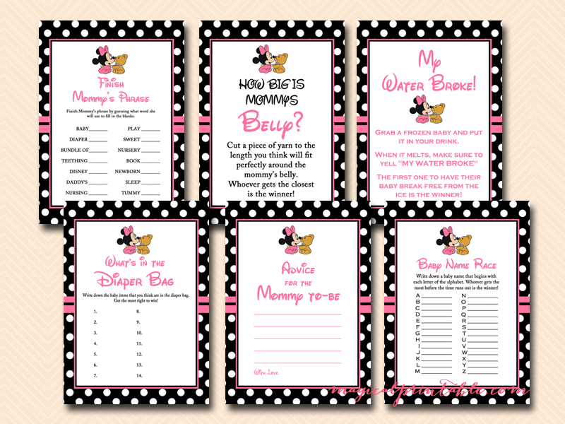 Free Minnie Mouse Baby Shower Games, Mickey Mouse Baby Shower Games, ...